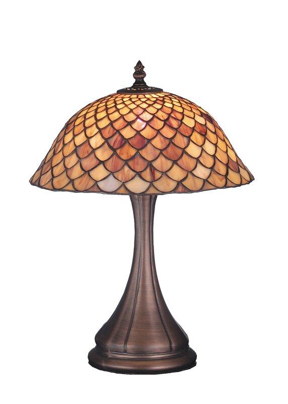 """Nouveau Fishscale 16.5"""" Table Lamp"""