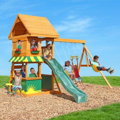 Magnolia Wooden Swing Set KidKraft