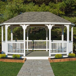 18 Ft. W x 12 Ft. D Solid Wood Patio Gazebo by YardCraft