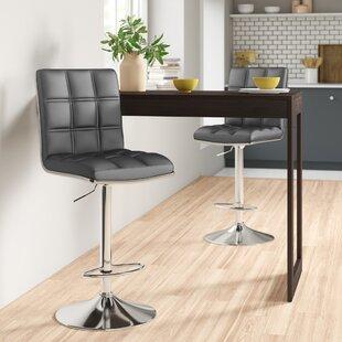 Miah Height Adjustable Bar Stool (Set Of 2) By Zipcode Design