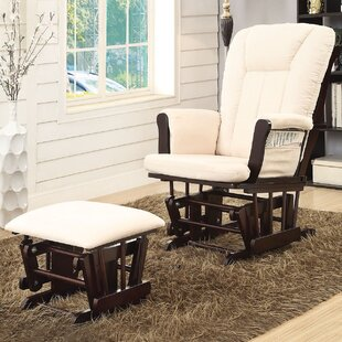 A&J Homes Studio Paola Swivel Glider and Ottoman