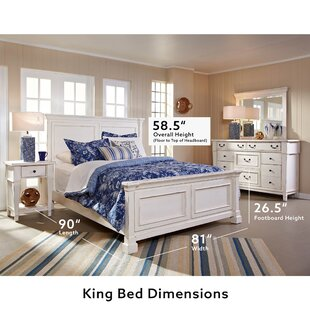 Defelice French Wood Panel Bed by Highland Dunes