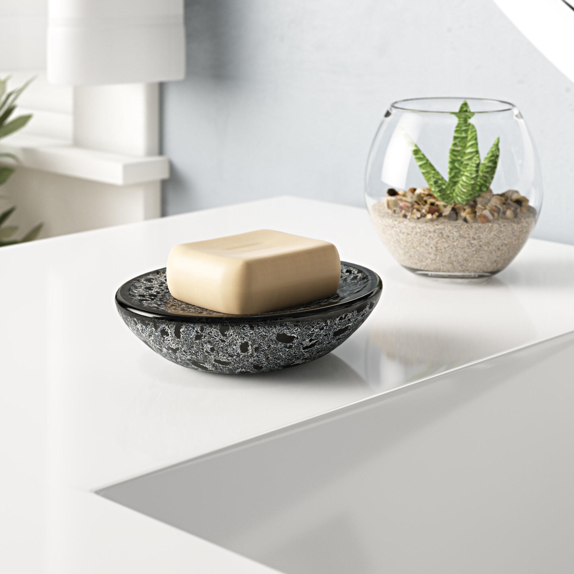 Wrought Studio Eder Ceramic Round Soap Dish Wayfair