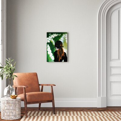 Eucalyptus Girl Painting Size 26 H X 18 W X 0 75 D Format Wrapped Canvas Shefinds