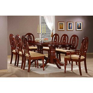 Riddle Dining Set With 8 Chairs By Astoria Grand