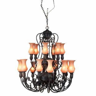 Eurofase Richtree 18-Light Shaded Chandelier