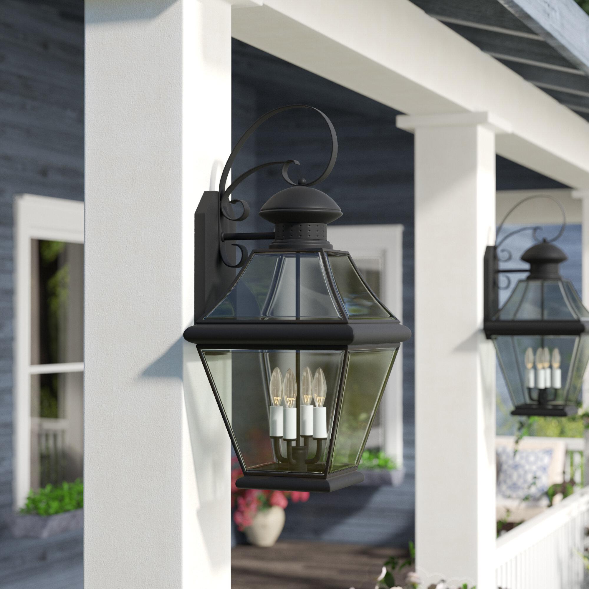 Three Posts Wiedeman 1 Bulb Outdoor Wall Lantern Reviews Wayfair