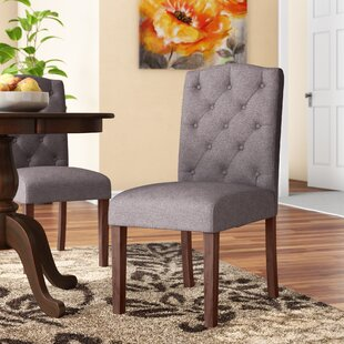 Orland Mid-Century Tufted Parsons Dining Chair (Set of 2) Charlton Home
