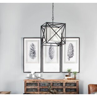 Brisa Mangano 2-Light Sqaure Pendant by Millwood Pines