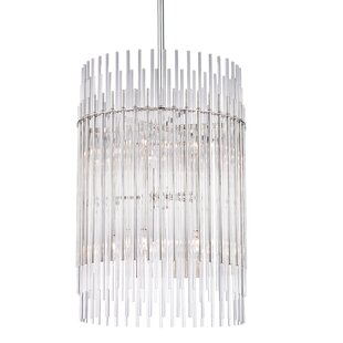 Bungalow Rose Saba 10-Light Cylinder Pendant