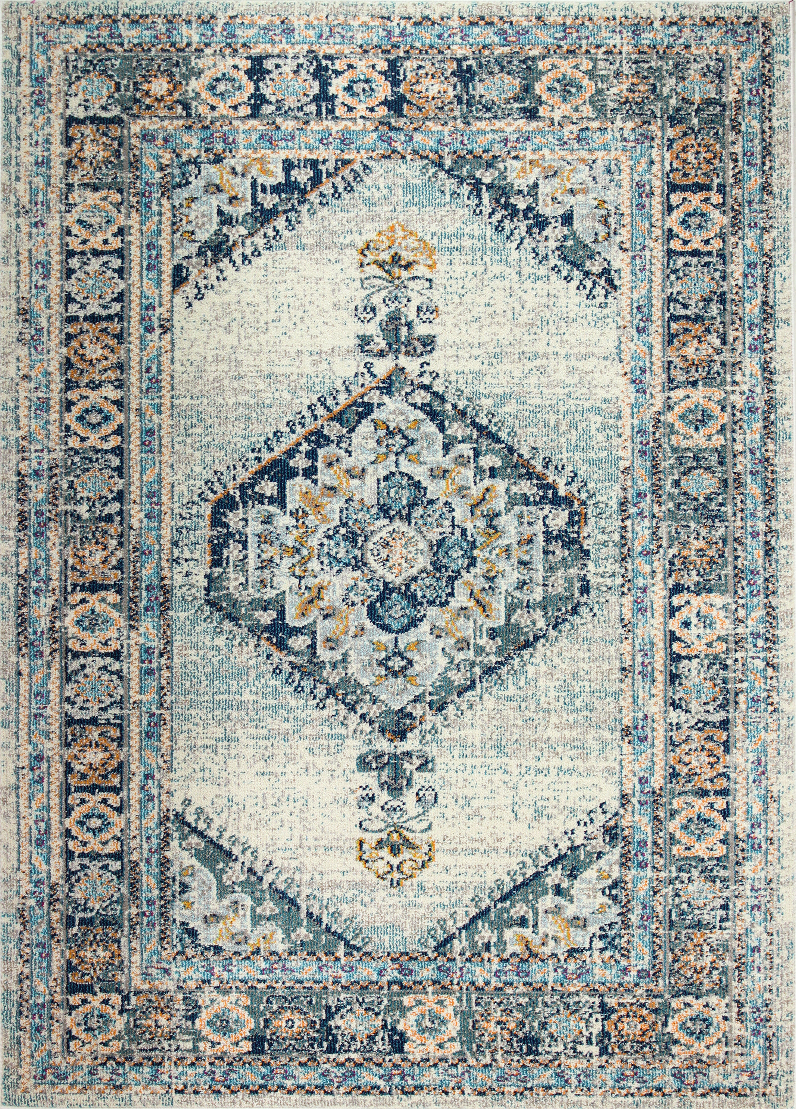 Chunn Blue Ivory Brown Area Rug