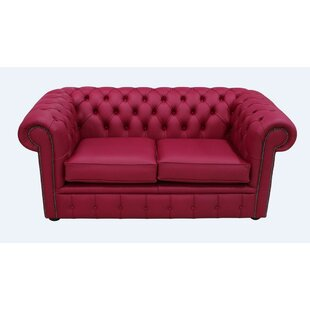 Aquetong Genuine Leather Chesterfield Loveseat By Latitude Vive