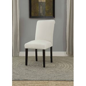 Ellettsville Upholstered Rolled Back Dining Chair (Set of 2) by Alcott Hill
