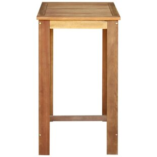 Curl Solid Acacia Wood Pub Table By Natur Pur