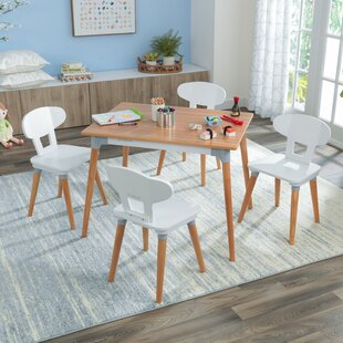Children's 5 Piece Rectangular Table And Chair Set By KidKraft