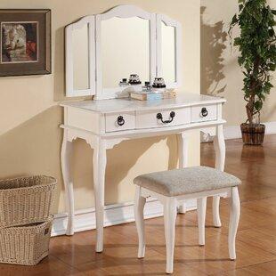 A&J Homes Studio Betty Vanity Set with Mirror