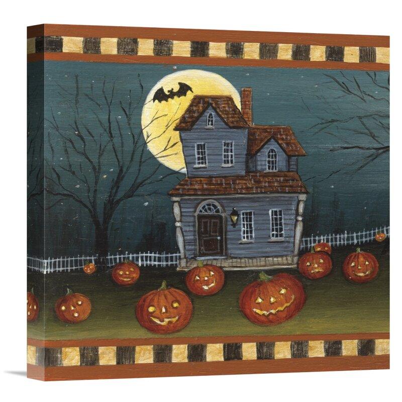 East Urban Home Halloween Eve By Carter Brown Artist Wrapped Canvas Print Wayfair