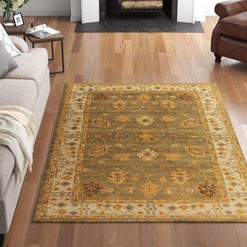 Three Posts Plemmons Oriental Handmade Tufted Wool Camel Sage Burnt Orange Area Rug Reviews Wayfair