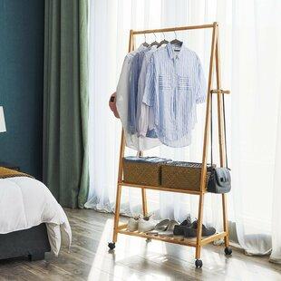 Rolling Garment Rack Coat Stand By Brayden Studio