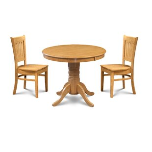 Pedersen 3 Piece Breakfast Nook Dining Set Loon Peak