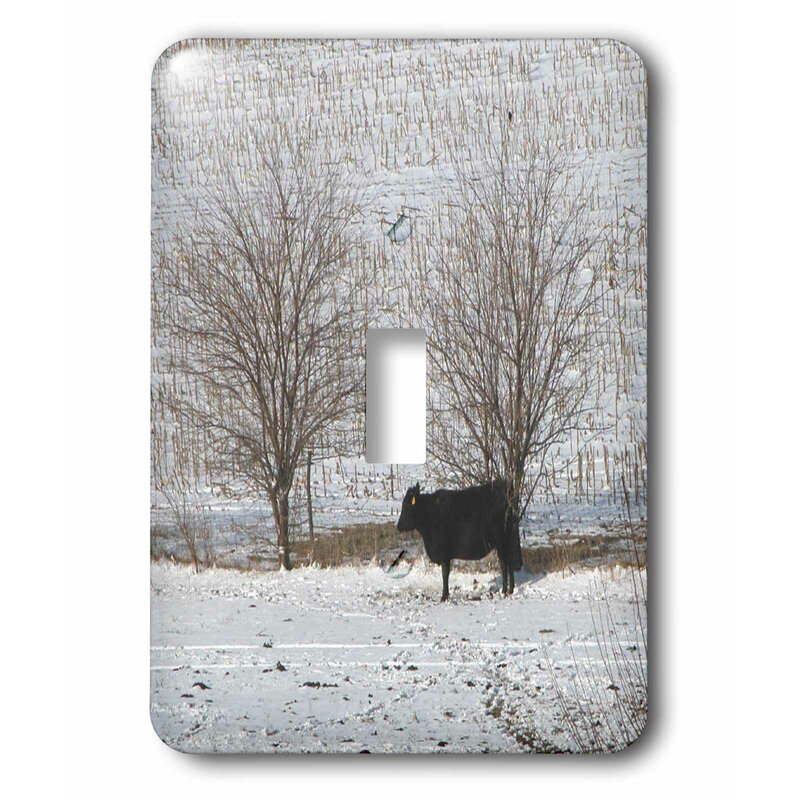 3drose Switch Cow Standing In The Snow 1 Gang Toggle Light Switch Wall Plate Wayfair