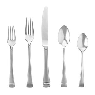 Federal Platinum Frosted 20 Piece 18/10 Stainless Steel Flatware Set,, Service for 4