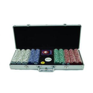 Case with Texas Hold'Em Poker Chip (Set of 500) by Trademark Global