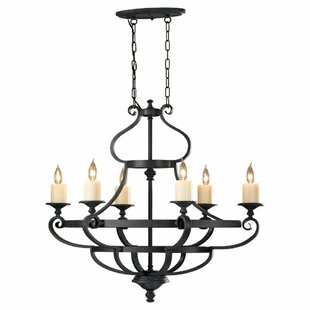 Inexpensive King's Table 6-Light Chandelier By Feiss