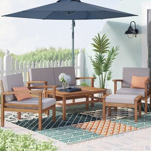 Marcial 5 Piece Sofa Seating Group with Cushions by