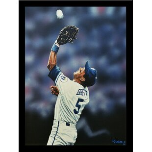 'George Brett Kansas City Royals' Print Poster by Darryl Vlasak Framed Memorabilia by Buy Art For Less