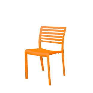 Mirabella Stacking Patio Dining Chair  sc 1 st  AllModern & Modern Orange Outdoor Dining Chairs | AllModern