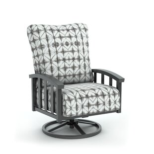 Bloomsbury Market Lonny Swivel Patio Chair with Sunbrella Cushion