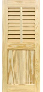 Louver Flat Panel Combination Shutter With Faux Tilt Rod by Shutters Design