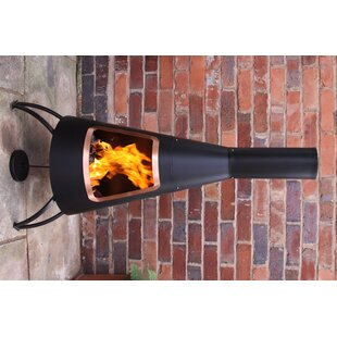 Conical Steel Chimenea By Gardeco