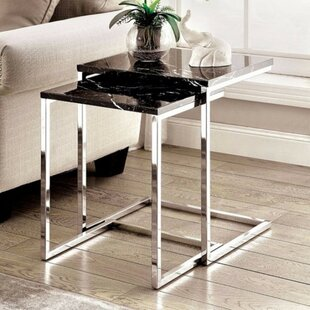 Demski Contemporary 2 Piece Nesting Table Set