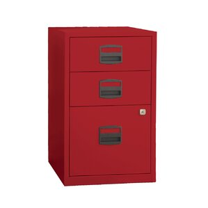 High Quality Castaneda 3 Drawer Steel Home Or Office Filing Cabinet. Cardinal Red
