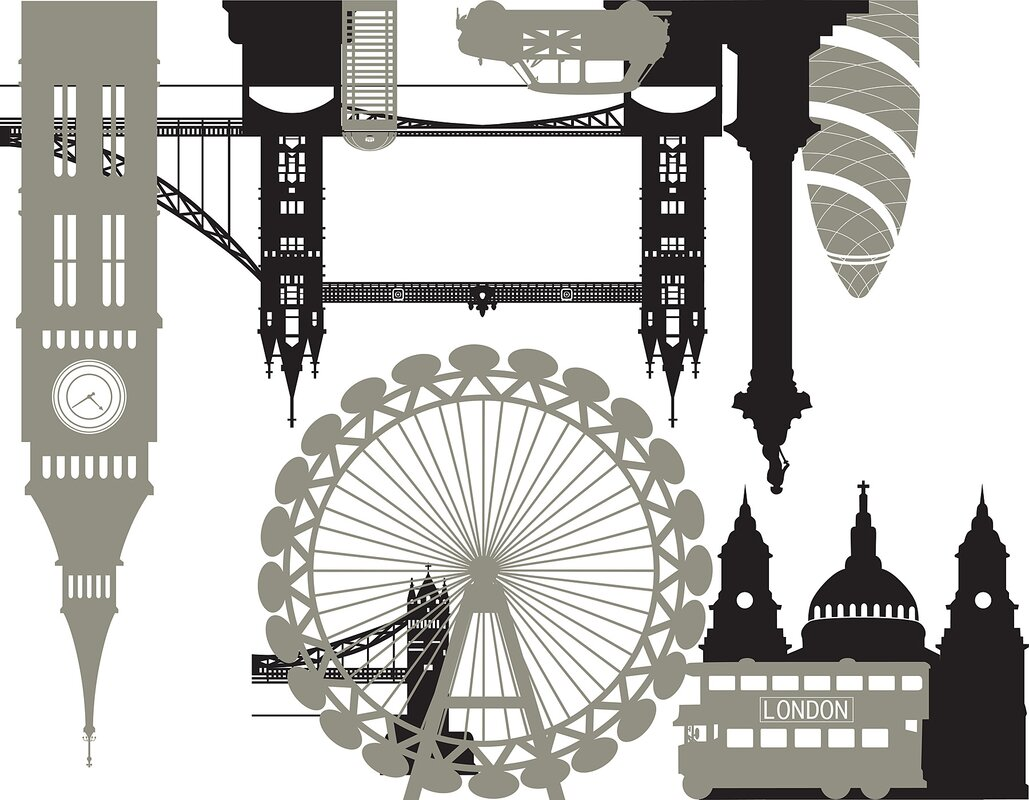 Wall Art Kit London Calling Small Wall Decal