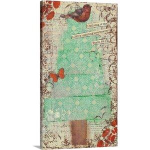 'Christmas Bird' by Cassandra Cushman Wall Art on Wrapped Canvas