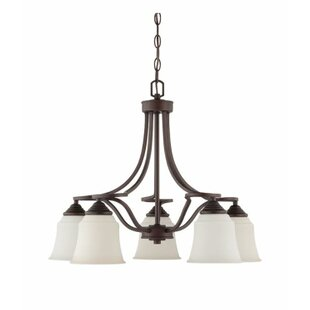 Winston Porter Woollard Down 5-Light Shaded Chandelier
