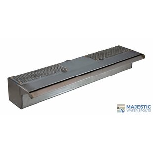 Majestic Water Spouts Sutton Stainless Steel Smooth Water Spillway