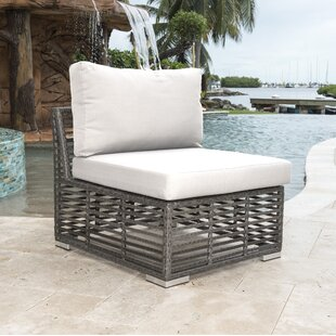 Panama Jack Outdoor Graphite Modular Patio Chair with Cushion