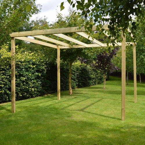 Randi Manufactured Wood Pergola Sol 72 Outdoor Finish: Light
