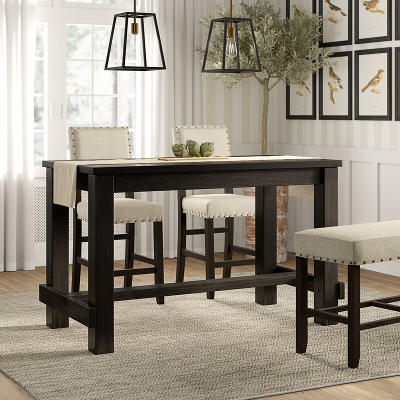 White Cane Outdoor Furniture, Greyleigh Rockport Counter Height Dining Table Reviews Wayfair