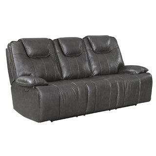 Almada Leather Reclining Sofa by Latitude Run SKU:ED521997 Buy