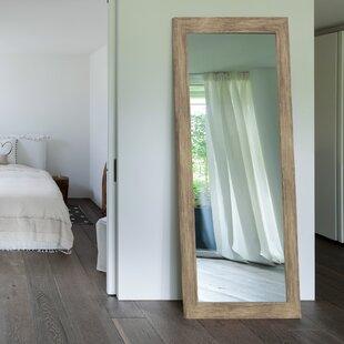 Areli Weathered Sand Barnwood Wall Mirror