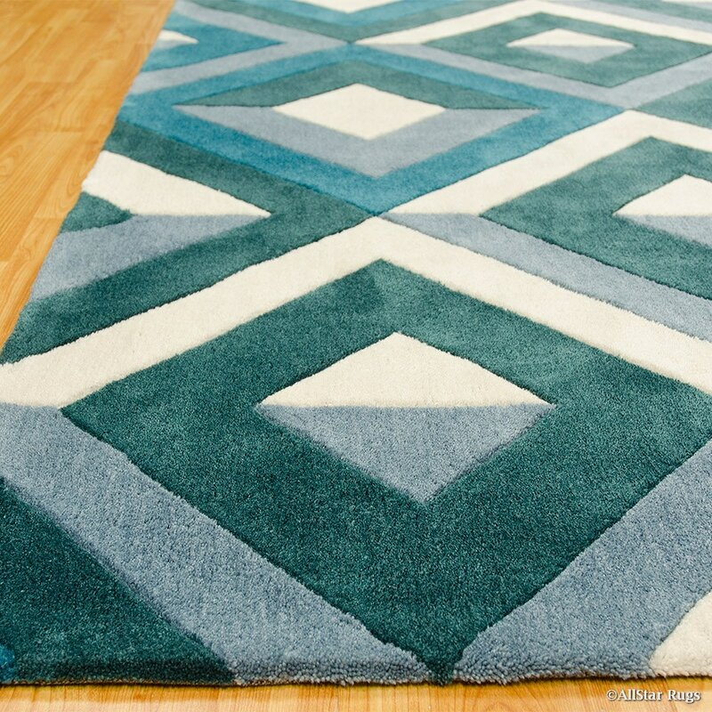 Allstar Rugs Handmade Teal Area Rug Wayfair
