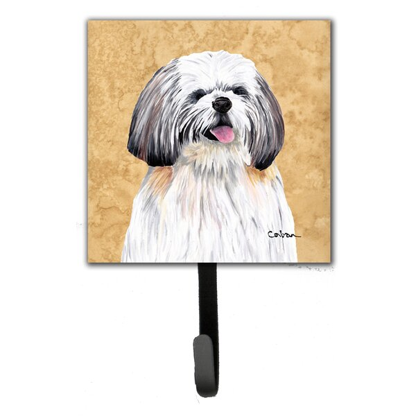 Custom Name Dog Leash Holder Wall Hook Shih Tzu Dog