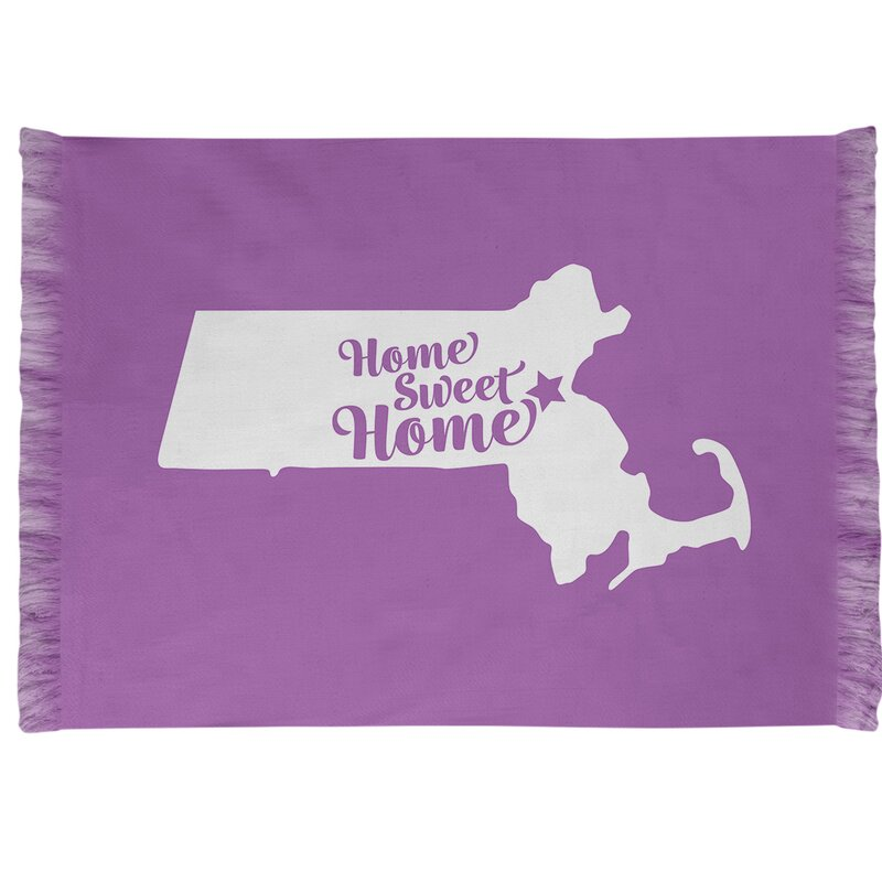 East Urban Home Home Sweet Boston Purple Area Rug Wayfair