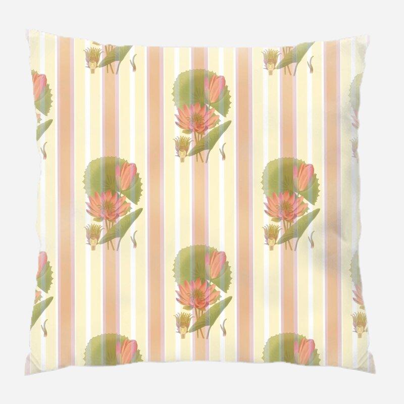 East Urban Home Lotus Flower Throw Pillow Wayfair