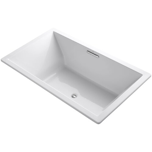 Kohler Underscore 48 X 48 Drop In Bubblemassage Air Bathtub With Bask Heated Surface And Center Drain Wayfair